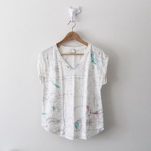 Anthropologie Map Shirt - Size Small